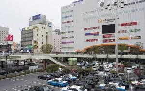 栃木県内の脱毛エステサロン店舗が多い宇都宮駅周辺